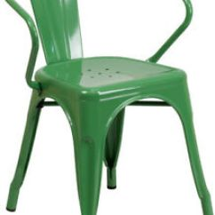 Green Metal Bistro Chairs Acapulco Rocking Chair Industrial Style Restaurant Outdoor Cafe Image Is Loading