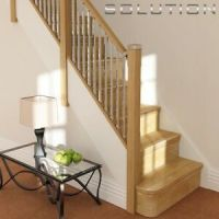SOLUTIONS CONTEMPORARY 3.6m 13 TREAD STRAIGHT STAIRCASE ...