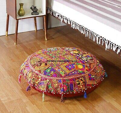 xl 32 round floor pillow cushion in maroon gypsy bohemian round floor cushions ebay