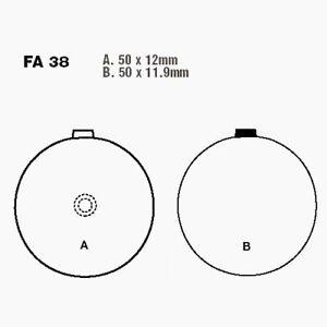 Brake Pads Standard EBC Front Fa038 Suzuki Gt 125 Gt125