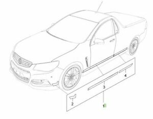 Genuine Holden New White Side Body Decal Kit to suit VF