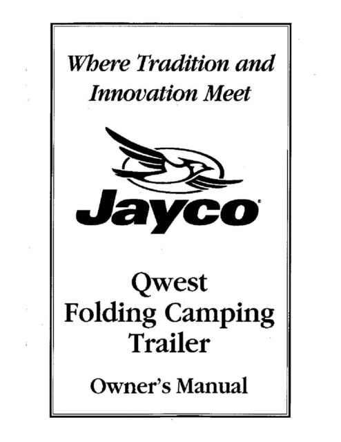 Jayco Fold-Down Pop-Up Tent Trailer Owners Manual- 2000