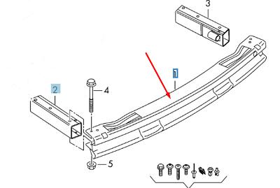 Audi Q5 8R Rear Bumper Reinforcement Crash Bar 8R0807313C
