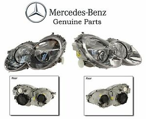 Pair Left & Right Genuine OEM Headlights For Mercedes Benz