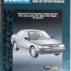 Subaru Vacuum Diagram 1996 Volkswagen Golf Stereo Wiring 1985 Thru 1992 Chilton S Cars Repair Manual Details About Diagrams