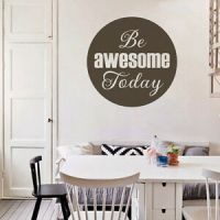Be Awesome Today Wall Decal Inspirational Quote Vinyl Art ...