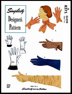 Gloves Sewing Pattern : gloves, sewing, pattern, GLOVES, Designer, Style, Sewing, Pattern, SIMPLICITY, Styles