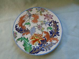 Chinese Floral Plate Da Qing Guangxu Nian Zhi Circa (1875-1908)