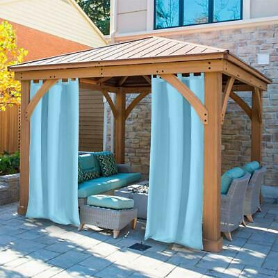 outdoor curtains panel tab top window curtain for pergola patio balcony