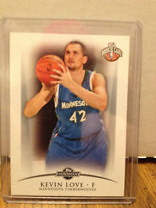 2008-09 TOPPS HARDWOOD KEVIN LOVE ROOKIE CARD, 1833/2009 ...