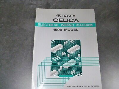 1998 toyota celica coupe convertible electrical wiring diagrams manual gt  22l  ebay