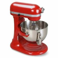 Kitchen Aid 6000 Hd Commercial For Rent Nyc Kitchenaid Pro Stand Mixer 6 Quart Big Super Red Silver Image Is Loading