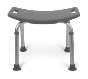 chair without back banquet accessories medline guardian bath bench or shower grey mds89740rw