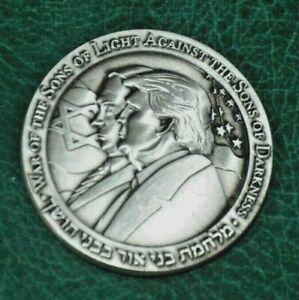 2020 Donald Trump Coin Benjamin Netanyahu Half Shekel Israel Jewish Temple BIBI   eBay