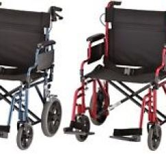 Transport Wheelchair Nova Soft Folding Chairs 22 Lightweight Chair W 12 Rear Wheels Image Is Loading 034