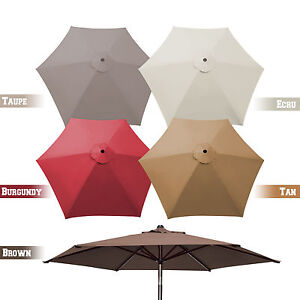 details about 8 2ft 6 ribs patio umbrella canopy replacement parasol sunshade top cover only
