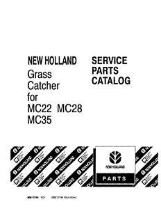 NEW HOLLAND Grass Catcher For MC22 MC28 MC35 HAY TOOLS