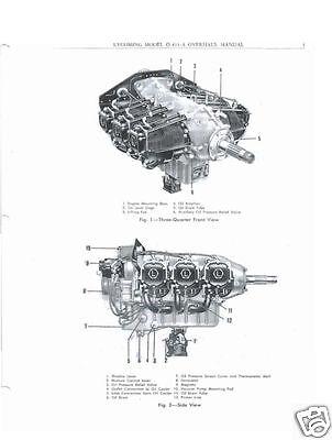 Lycoming O-435 engine manuals overhaul repair parts