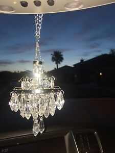 Image Is Loading New Chandelier For Car Rear View Mirror Sparkly