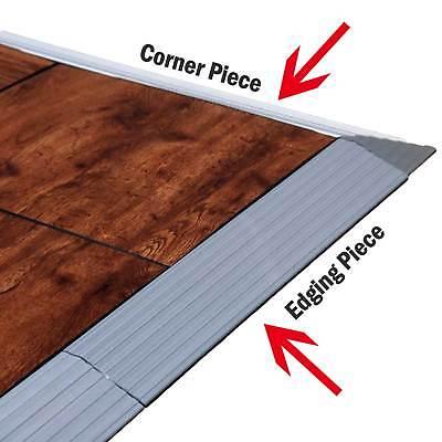 aluminum edging frame and corner fittings for portable abs dance floor tile ebay