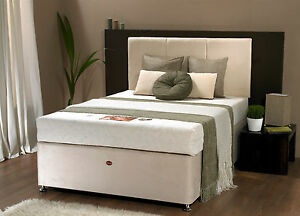 Image Is Loading New York 4ft Divan Bed With Memory Foam