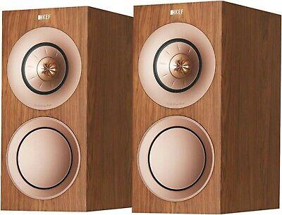 KEF R3 3-Way Standmount Speakers. Walnut   eBay