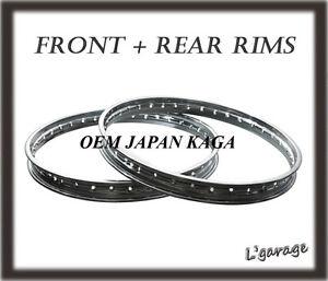 [LG3407] KAWASAKI C2SS C2TR '67-'69 USA F+R JAPAN KAGA RIM