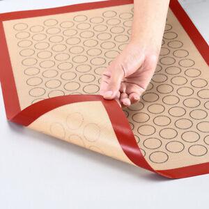 details sur tapis de cuisson en fibre de verre en silicone feuille de macaron antiadhesif