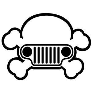 JEEP HARLEY SKULL AMERICAN CAR WRANGLER DIRTY 4X4 VINYL