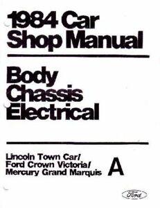 Oem Repair Shop Manual Loose Leaf For Mercury Grand
