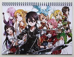 Wall Calendar 2018 (12 pages A4) SWORD ART ONLINE Anime Manga Japan A-719