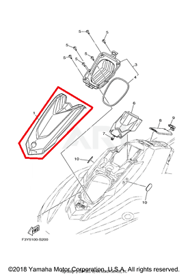 NEW OEM YAMAHA WAVERUNNER EX EX1050CT ENGINE ROOM LID