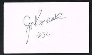 Jon Koncak signed autograph auto 3x5 card Basketball SMU