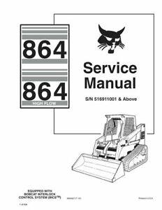 Bobcat 864 & Highflow Skid Steer Loader Service Repair