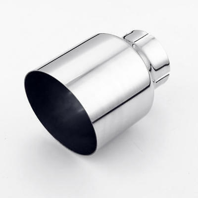 stainless steel exhaust tip 2 5 inlet 4 outlet 5 5 long angle cut single wall ebay