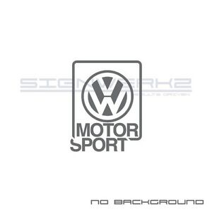 VW Motorsport Decal Sticker Euro v dub VW Racing Circuit