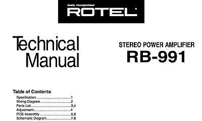 Marantz rb-991, rb-993 Schematic Diagram Service Manual