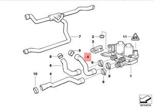 Genuine BMW E36 HOSE For Heater Control Valve And Radiator