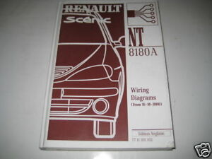 Wiring Diagram Schaltpläne Renault Megane Scenic from 16102000 | eBay