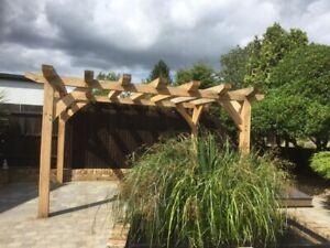 details about bespoke green oak frame pergola 4m x 3m