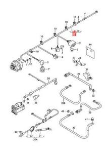 Genuine VW Jetta syncro Vento wiring set for three-phase