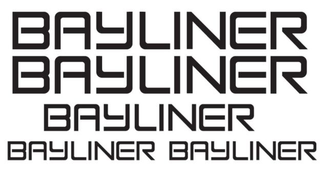 Bayliner Boat Decals Set Of 5 Bass Outboard Open Bow Boat