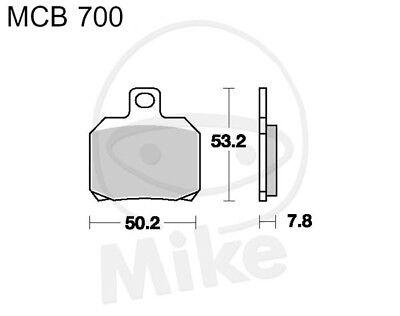 TRW Lucas Brake Pads MCB700 Rear Ducati MULTISTRADA 1200 S