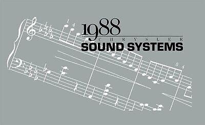 OEM Maintenance Owner's Manual Bound Dodge Sound System