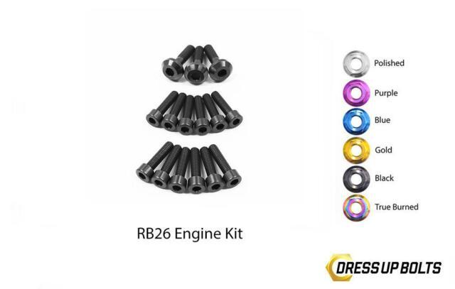 Black Dress Up Bolt Kit for 1989-1994 Nissan Skyline R32