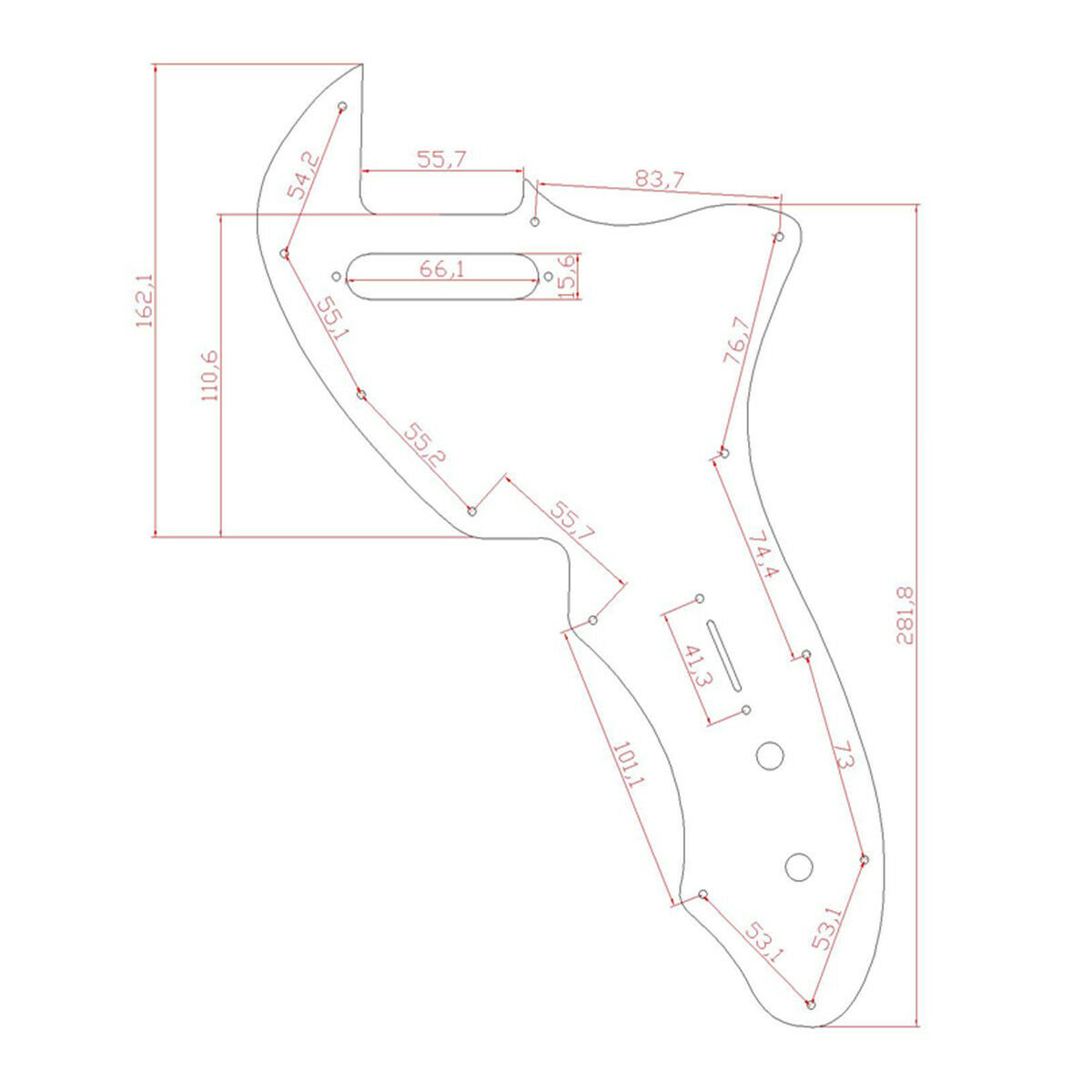 Electric Guitar Pickguard for 69 Telecaster Tele Thinline