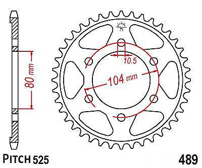 Hendler Rear Sprocket 43 Teeth (1489-43) Kawasaki ZX-10R
