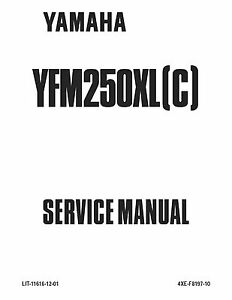 Yamaha service workshop manual 2002 BEAR TRACKER YFM250XP