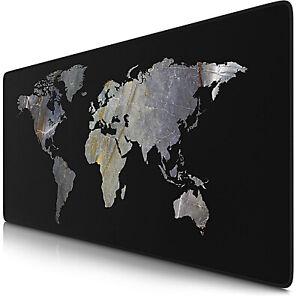 details sur tapis souris xxl 900x400mm carte monde sous main bureau gamer confortable precis