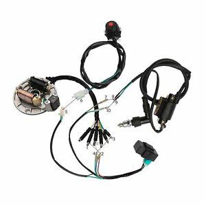Bike Full Wire Harness 50-125cc Kick Start Dirt Pit Wiring